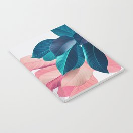 Pink and Blue Leaf Notebook