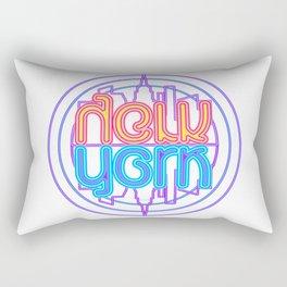 """Neon New York"" Lakeview Mirror Image Rectangular Pillow"