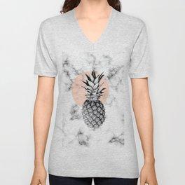 Marble Pineapple 053 Unisex V-Neck