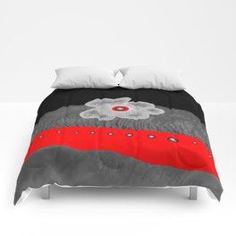Poppy and red rivers Comforters