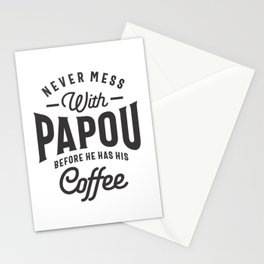 Mens Papou Grandpa Gifts Worlds Greatest Papou T-shirt Stationery Cards