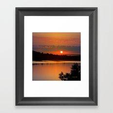 Sunrise Lake Framed Art Print