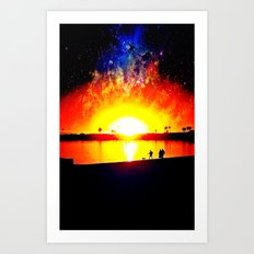 Space Walk Art Print