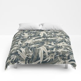 embroidered feathers Comforters