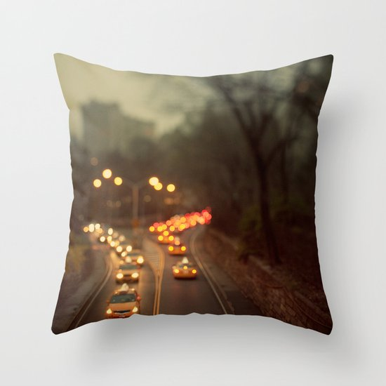 Taxicab Confessions - New York Throw Pillow