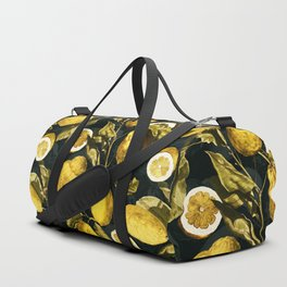 Lemon and Leaf Pattern V Duffle Bag