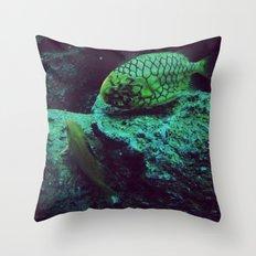 Aquatic Companion Throw Pillow