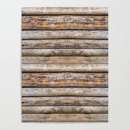 Wood Effects Raw Wood Log Cabin Lodge Rustic Poster