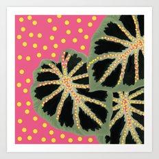 Dotty Pink Art Print