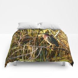 Green Heron Comforters