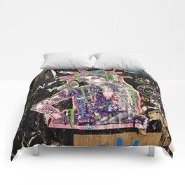 Rehab Amy Graffiti in New York City Comforters