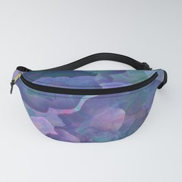 Blue and teal abstract watercolor Fanny Pack
