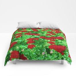 Geraniumz Comforters