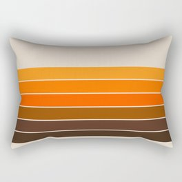 Golden Spring Stripes Rectangular Pillow