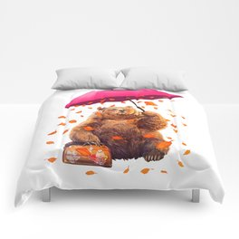 autumn bear Comforters