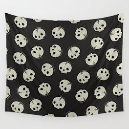 Skull Pattern (BLACK) Wall Tapestry