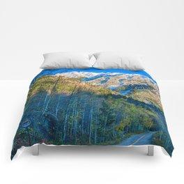 Mountain Path // Rocky Mountains Colorado Landscape Photography Amazing Shots at Sunrise Comforters