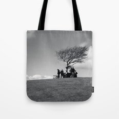 at the meeting place... Tote Bag