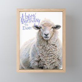 Happy Birthday To Ewe Framed Mini Art Print