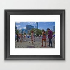 Taste of Chicago Framed Art Print