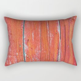 Red Rustic Fence rustic decor Rectangular Pillow