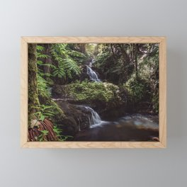 Jungle Waterfall Framed Mini Art Print
