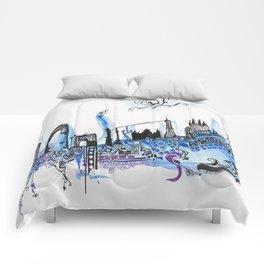 Barcelona Landscape Comforters