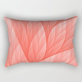 Living Coral Color of the Year 2019 Abstract Pattern Fractal Fine Art Rectangular Pillow