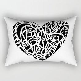 ornate heart Rectangular Pillow