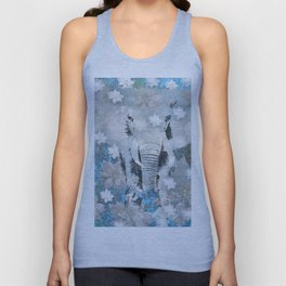 ELEPHANT AND FLOWERS Unisex Tank Top