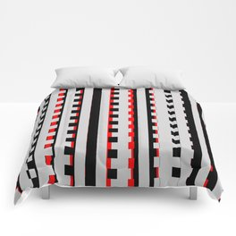Rectangles Design red black Comforters