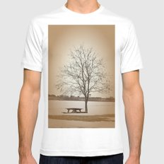 Winter Silence Mens Fitted Tee MEDIUM White