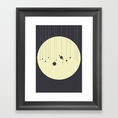 Solar System (you are here) Strings Framed Art Print