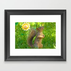 Posing Framed Art Print