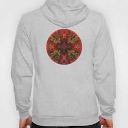 Red Pattern with little  Mandala Hoody