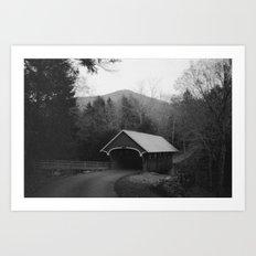 New England Classic Covered Bridge Art Print