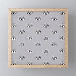 I caught my eye on you (Grey) Framed Mini Art Print