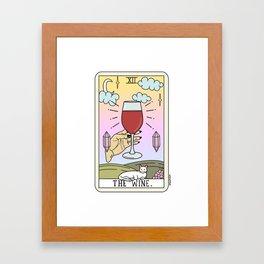 WINE READING Framed Art Print