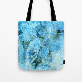Blue Crystal Geode Art Tote Bag