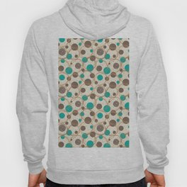 Brown and turquoise Hoody