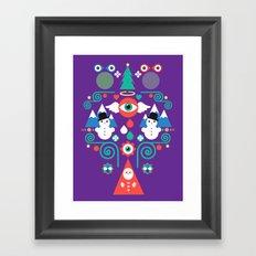 Christmas - purple pop Framed Art Print
