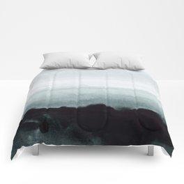 blurred landscape Comforters