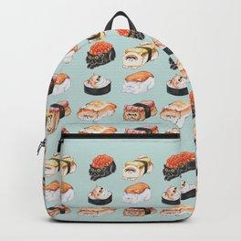 Sushi Persian Cat Watercolor Backpack