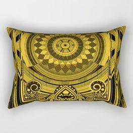 Yellow Sunflower Card Deck Cover Rectangular Pillow