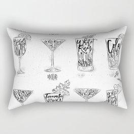 Cocktail menu graphic Rectangular Pillow