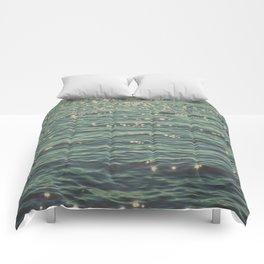 Sea Glitter (vintage) Comforters