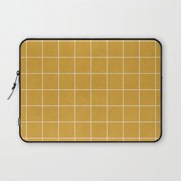 Small Grid Pattern - Mustard Yellow Laptop Sleeve