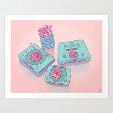 Flowers & Consoles Art Print