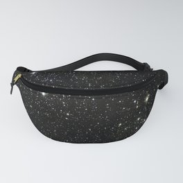 Universe Space Stars Planets Galaxy Black and White Fanny Pack
