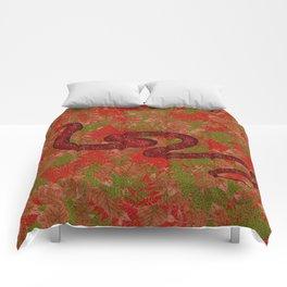 Autumn snake Comforters